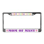 Mom Of Many License Plate Frame