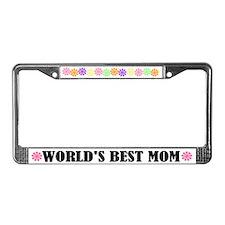 World's Best Mom License Plate Frame