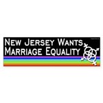 New Jersey Marriage Equality bumper sticker