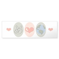 Peace Love Earth Bumper Sticker (50 pk)