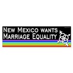 New Mexico Wants Marriage Equality bumper sticker