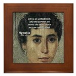 Wisdom of Greece: Hypatia Framed Tile