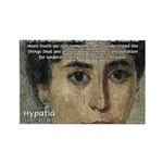 Wisdom of Greece: Hypatia Rectangle Magnet