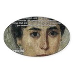 Wisdom of Greece: Hypatia Oval Sticker
