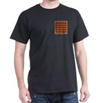 Orange And Yellow Latticework Dark T-Shirt