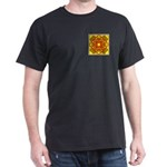 Brown Shield Design Dark T-Shirt