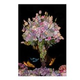 Floral bouquet Postcards (Package of 8)