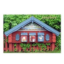 Sundborn Mailboxes Postcards (Package of 8)