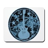 Blue Distressed Star Guitar Mousepad