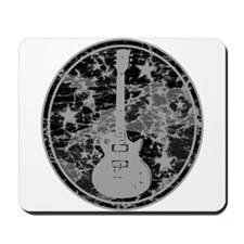Grey Distressed Star Guitar Mousepad