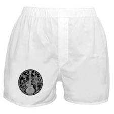 Grey Distressed Star Guitar Boxer Shorts