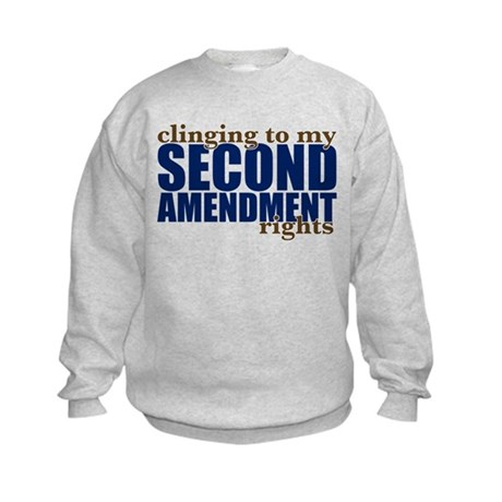 Clinging To My 2nd Rights Kids Sweatshirt