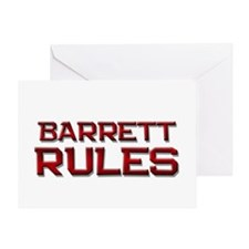 barrett rules Greeting Card
