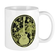 Yellow Distressed Star Guitar Mug