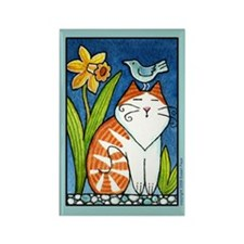 BIRD BRAIN No. 4...Cat Lover Rectangle Magnet