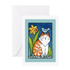 "BIRD BRAIN No. 4... ""Purrfect Day"" Card"