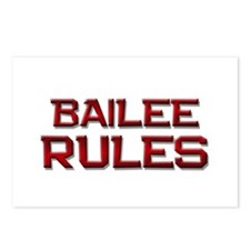 bailee rules Postcards (Package of 8)