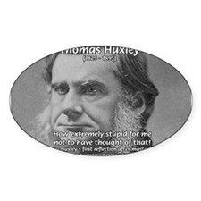 Thomas Huxley and Darwin Oval Decal