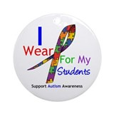 Autism Support Students Ornament (Round)