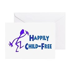Happily Child-Free Greeting Cards (Pk of 20)
