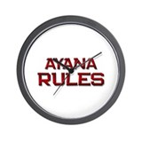 ayana rules Wall Clock