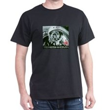 Cosmonaut Valentina Tereshkova Black T-Shirt