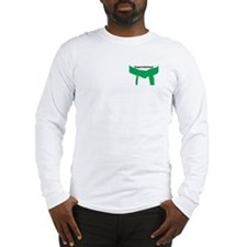 Martial Arts Congrats Green Belt Long Sleeve Tee