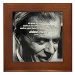 Mysticism Aldous Huxley Framed Tile