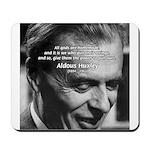 Mysticism Aldous Huxley Mousepad