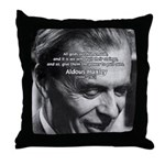Mysticism Aldous Huxley Throw Pillow