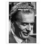 Mysticism Aldous Huxley Small Poster
