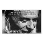 Mysticism Aldous Huxley Rectangle Sticker