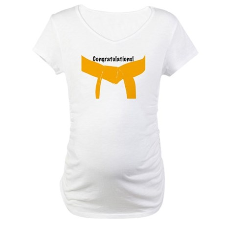 Martial Arts Congrats Orange Belt Maternity Tee