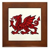 Red Welsh Dragon  Framed Tile