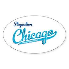 staycation Oval Sticker