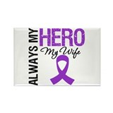 Pancreatic Cancer Wife Rectangle Magnet (100 pack)