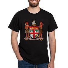 Fiji Coat Of Arms Black T-Shirt