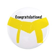 Martial Arts Congrats Yellow Belt Button