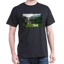 Tikal Courtyard Black T-Shirt