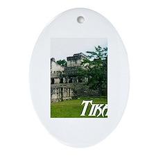 Tikal Courtyard Oval Ornament