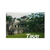 Tikal Courtyard Rectangle Magnet
