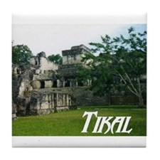 Tikal Courtyard Tile Coaster