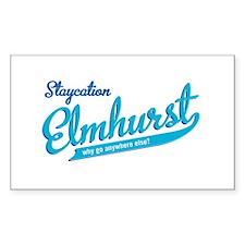 Elmhurst Staycation Rectangle Sticker