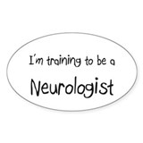I'm training to be a Neurologist Oval Decal