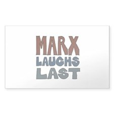 Marx Laughs Last 5x3 Decal