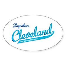 Cleveland Staycation Oval Sticker