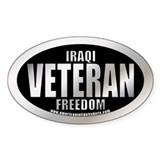 Operation Iraqi Freedom Veteran Oval Decal