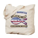 Navy Daughter Tote Bag