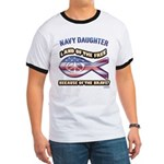 Navy Daughter Ringer T