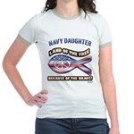 Navy Daughter Jr. Ringer T-Shirt